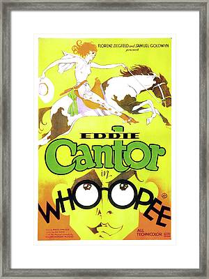 Eddie Cantor In Whoopee 1930 Framed Print by Mountain Dreams