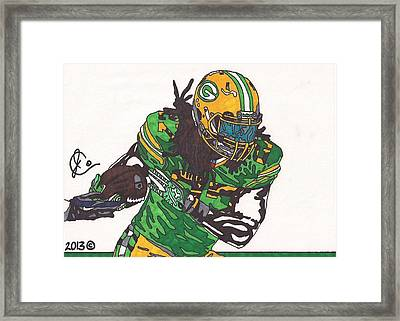 Eddie Lacy 2 Framed Print by Jeremiah Colley