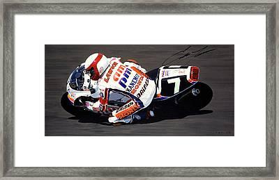Eddie Lawson - Suzuka 8 Hours Framed Print by Jeff Taylor