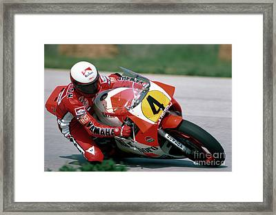 Eddie Lawson. 1984 Nations Motorcycle Grand Prix Framed Print