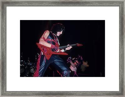 Eddie Ojeda Of Twisted Sister Framed Print by Rich Fuscia