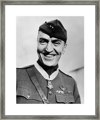 Eddie Rickenbacker Wearing The Medal Of Honor  Framed Print