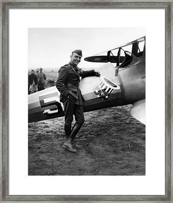 Eddie Rickenbacker - Ww1 American Air Ace Framed Print