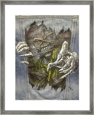 Eddie The Metal  'ed Framed Print by William Boehmer