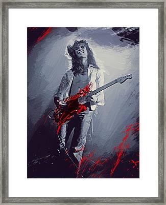 Eddie Van Halen Framed Print by Afterdarkness
