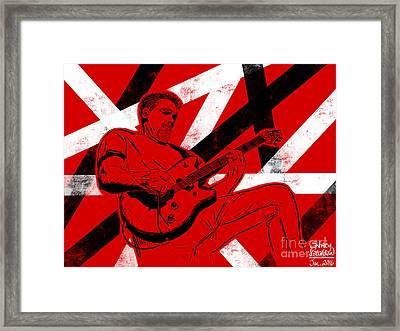Eddie Van Halen Framed Print
