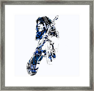 Eddie Van Halen Why Can't This Be Love Lyrics Framed Print by Marvin Blaine
