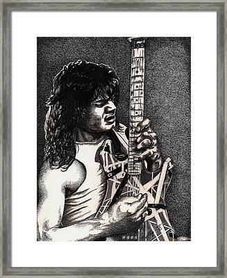 Eddie Vanhalen Framed Print by Kathleen Kelly Thompson