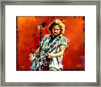 Eddie Vedder Of Pearl Jam Framed Print