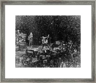 Eddie Vedder Rock God Pose Pearl Jam Framed Print by Toby McGuire