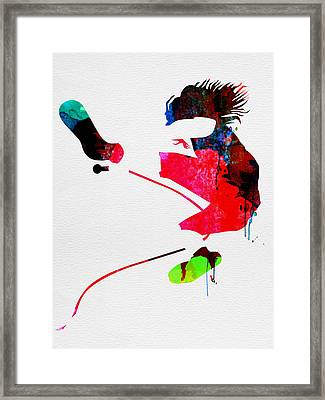 Eddie Watercolor Framed Print by Naxart Studio