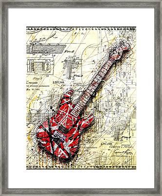 Eddie's Guitar 3 Framed Print by Gary Bodnar