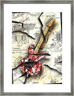Eddie's Guitar Framed Print by Gary Bodnar