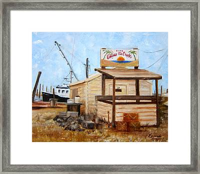 Eddies On The Creek Belford Nj Framed Print by Leonardo Ruggieri
