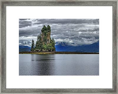 Eddystone Rock In Misty Fjords National Monument Framed Print