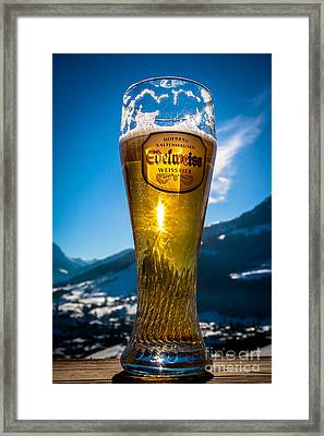 Edelweiss Beer In Kirchberg Austria Framed Print