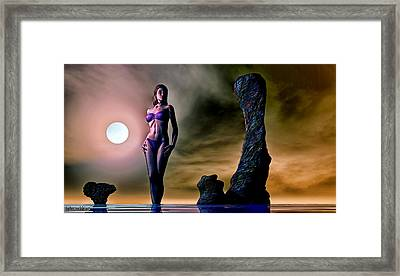 Eden At The Rock Framed Print by Tyler Robbins