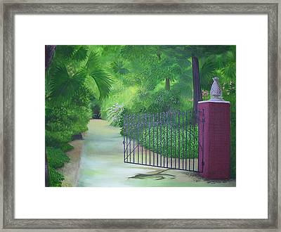 Edenlawn Plantation Framed Print