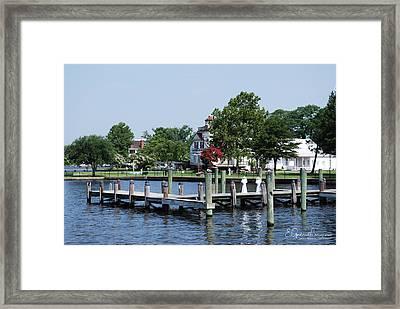 Edenton Waterfront Framed Print by Gordon Mooneyhan