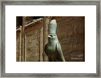 Edfu Temple Egypt Framed Print by Bob Christopher