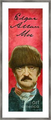 Edgar Allan Moe... Framed Print by Will Bullas