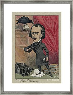 Edgar Allan Poe, American Author Framed Print
