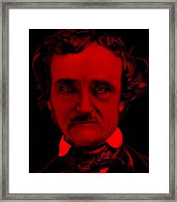Edgar Allan Poe Framed Print by Brian Broadway