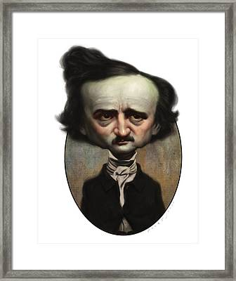 Edgar Allan Poe Framed Print by Court Jones