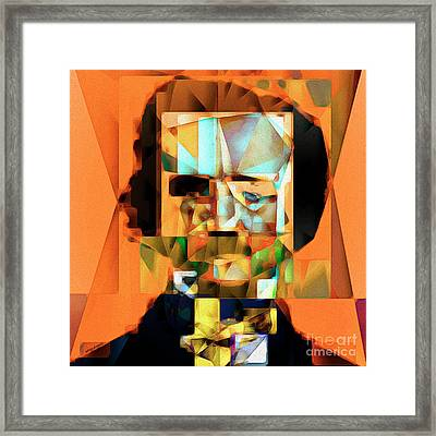 Framed Print featuring the photograph Edgar Allan Poe In Abstract Cubism 20170325 Square by Wingsdomain Art and Photography