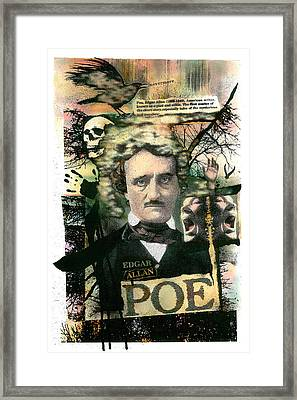 Framed Print featuring the painting Edgar Allan Poe by John Dyess