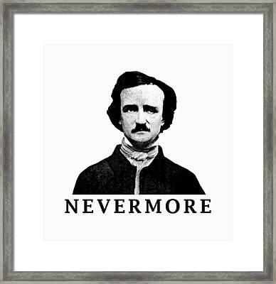 Edgar Allan Poe - Nevermore Framed Print by War Is Hell Store