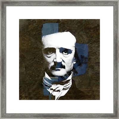 Framed Print featuring the mixed media Edgar Allan Poe  by Paul Lovering