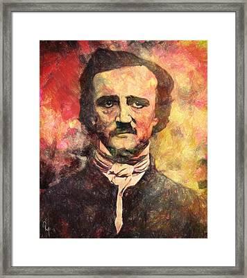 Edgar Allan Poe Framed Print by Taylan Apukovska