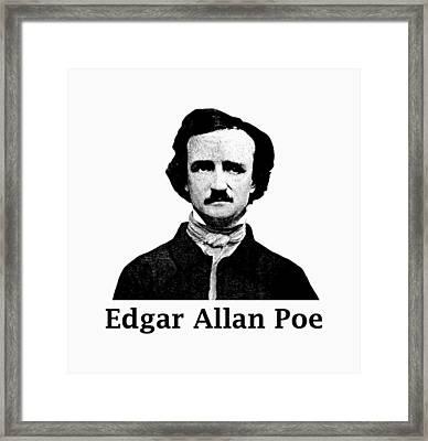 Edgar Allan Poe Framed Print by War Is Hell Store