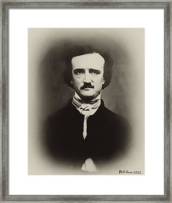 Edgar Allen Poe Framed Print by Bill Cannon