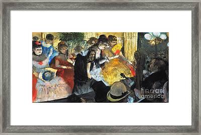 Edgar Degas: Cabaret, 1876 Framed Print