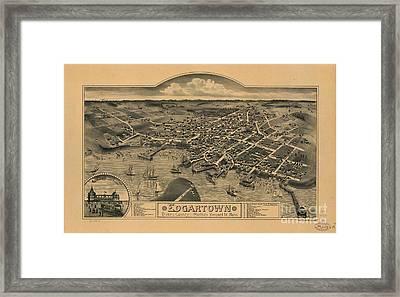 Edgartown, Duke's County, Martha's Vineyard Id., Mass 1886 Framed Print