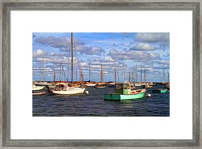 Edgartown Harbor Framed Print by Gina Cormier
