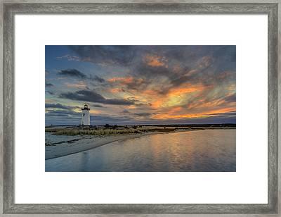 Edgartown Ligh At Dawn Framed Print