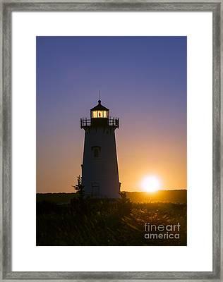 Edgartown Light Sunrise Framed Print