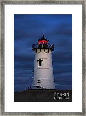 Edgartown Lighthouse Night Framed Print by John Greim