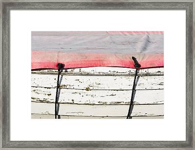 Edge Of A Boat Framed Print by Tom Gowanlock