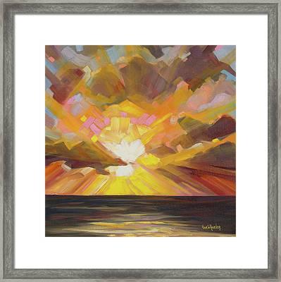 Edge Of Glory Framed Print by Eve  Wheeler