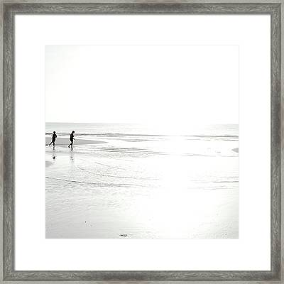 Framed Print featuring the photograph Edge Of Light by Eric Christopher Jackson