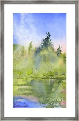 Edge Of Morning Framed Print