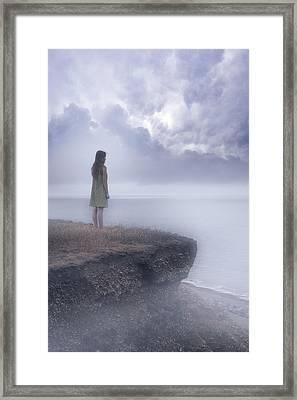 Edge Of The Cliff Framed Print by Joana Kruse