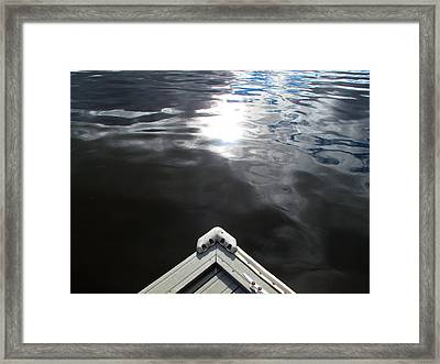 Edge Of The Dock 2 Framed Print by Lyle Crump