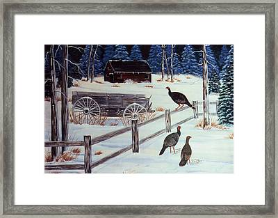 Edge Of The Field Framed Print by Eileen Blair
