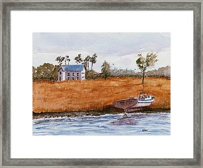 Edge Of The Swamp Framed Print by Barry Jones