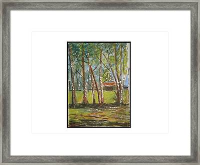 Edge Of Woods Framed Print by Angela Puglisi